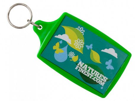 Super Sized Rectangular Plastic Acrylic Keyrings