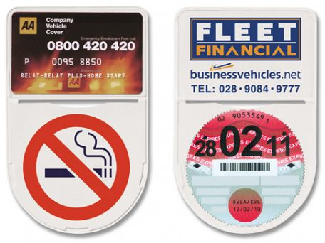 Shield Shaped Self Adhesive Membership Tax Disc                      Holders