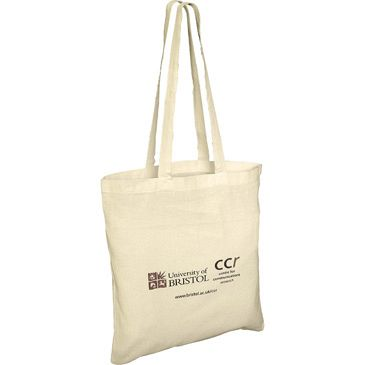 Long Handled Biodegradable Cotton Tote Shopping Bags