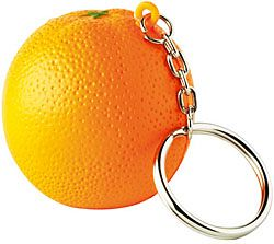 Orange Keyring Stress Toys