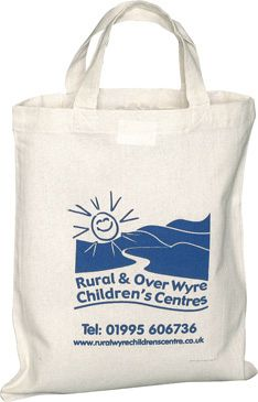 Small Biodegradable Cotton Tote Shopping Bags